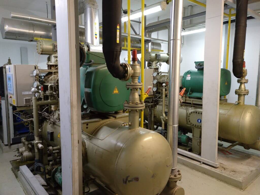 Refrigeración por amoníaco (NH3)