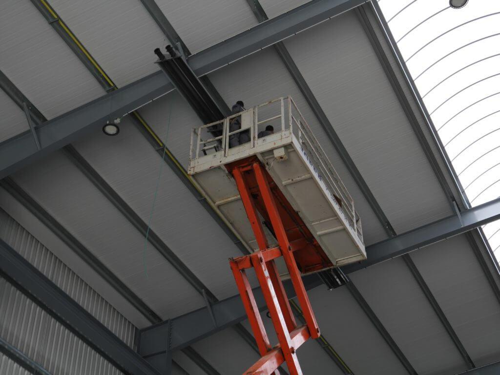 Instalación de tubos radiantes