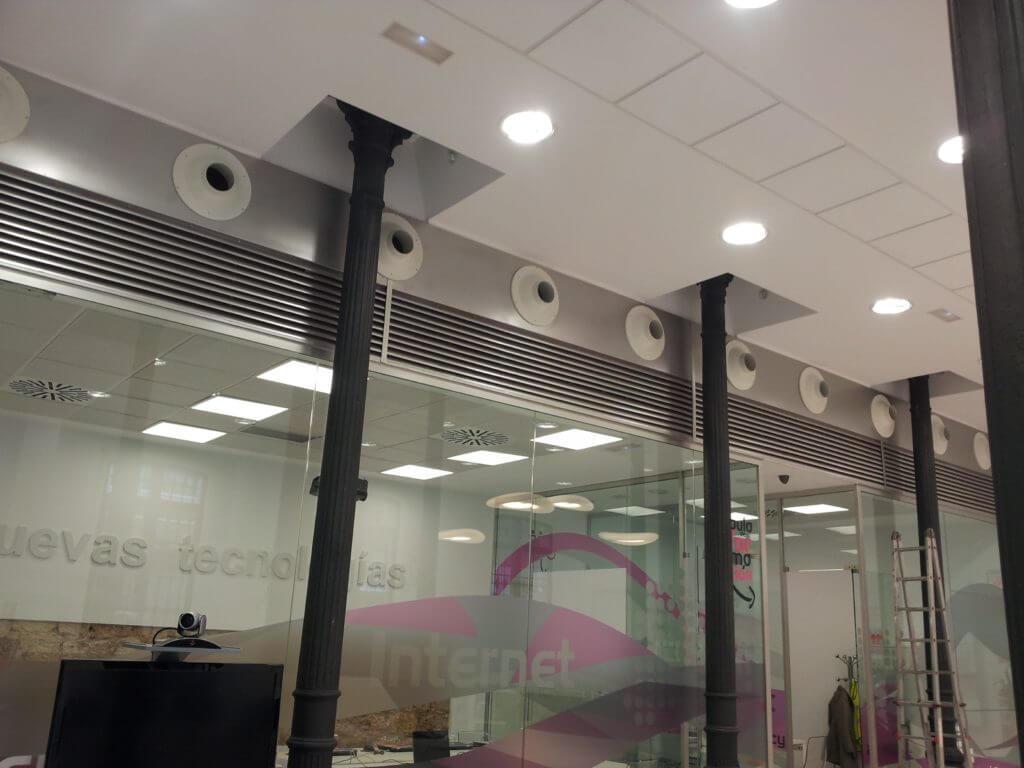 Climatización en Centro Comercial