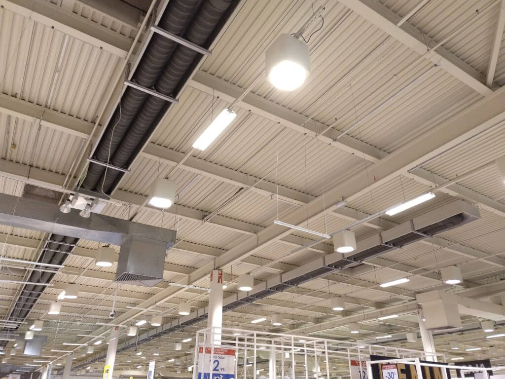 Instalación de calefacción para Centro Comercial Hipercor