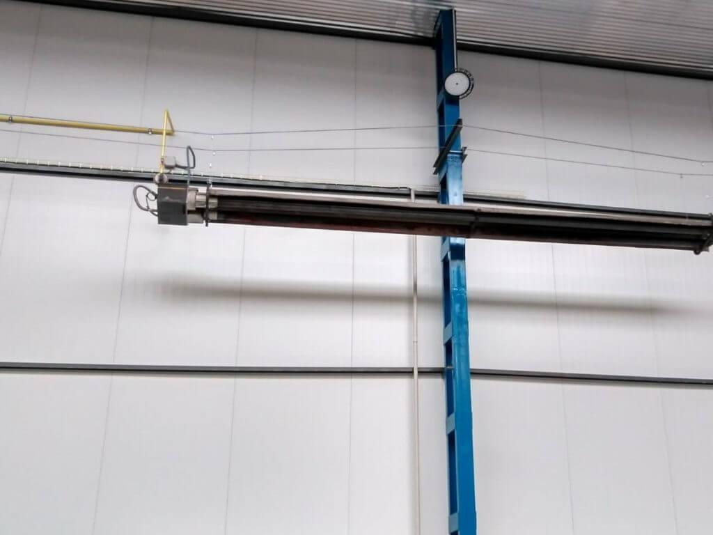Tubo radiante instalado para Rotrans