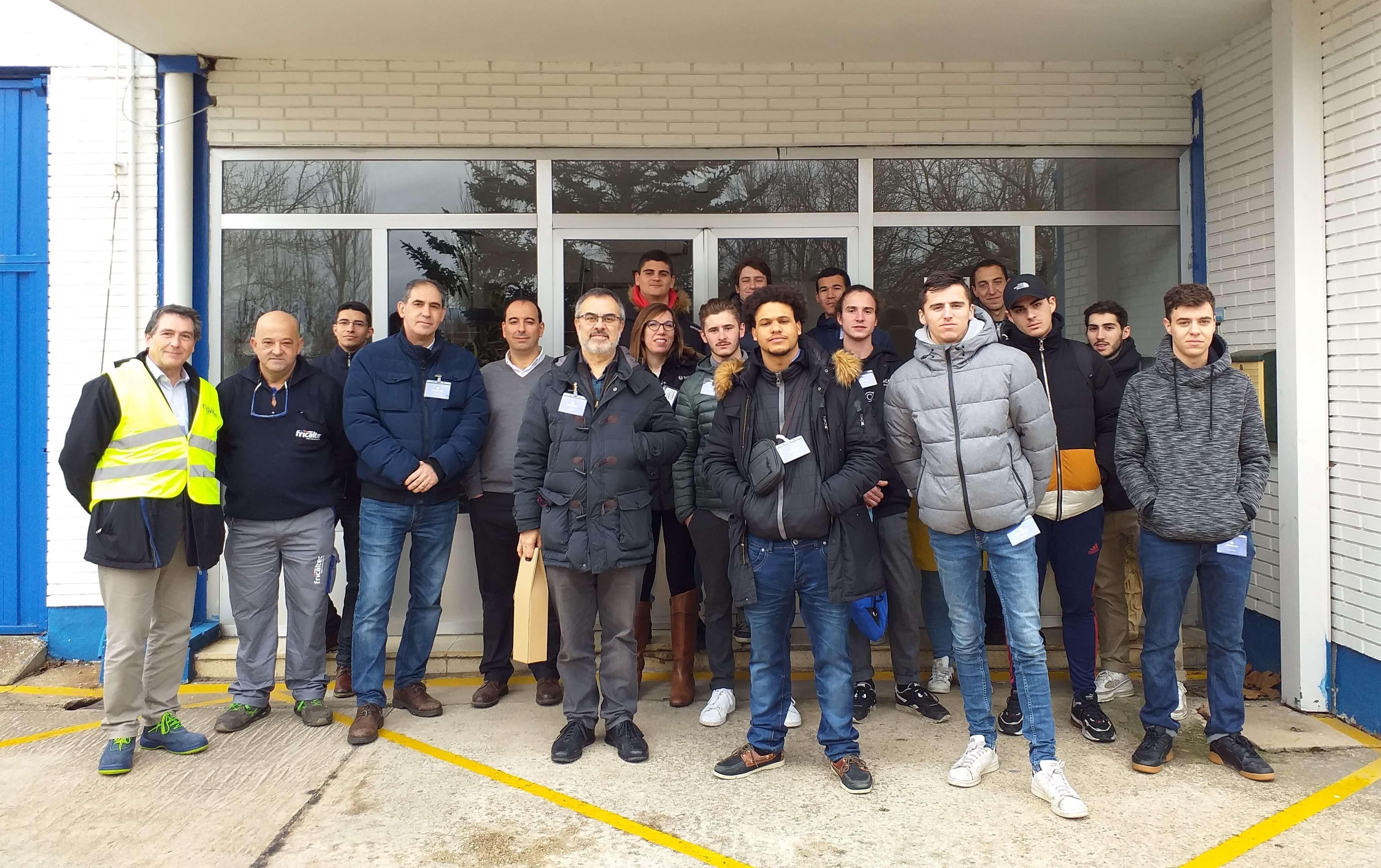 Los alumnos del Campus Lasalle de Toulouse visitan las instalaciones de Fricaltec